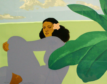 Kailua Moon Diptych 1983 Limited Edition Print - Pegge Hopper
