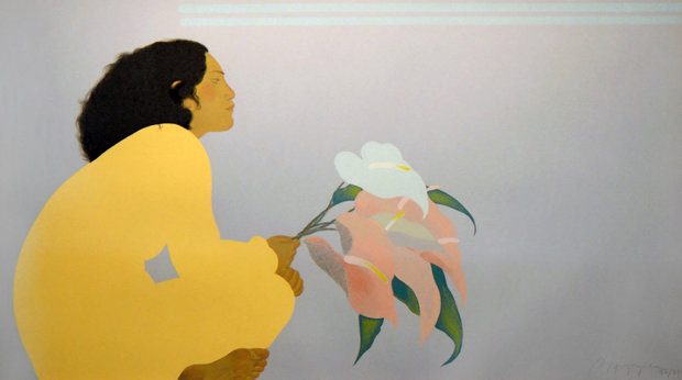 Untitled (Woman With Anthuriums)