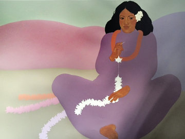 Pe'ahi        Kui Lei 1984 Hawaii Diptych Limited Edition Print - Pegge Hopper