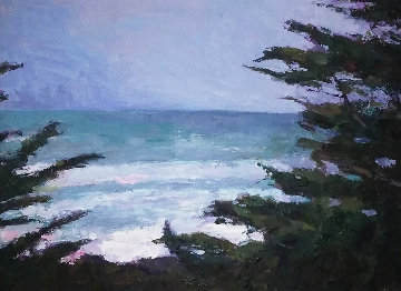Pacific Trail 2009 34x35 Original Painting - Larry Horowitz