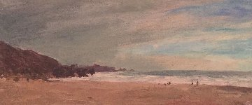 Stinson Beach 2001 18x32 Original Painting - Larry Horowitz