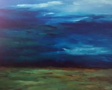 Land, Sea, And Sky  36x43 2005 Original Painting - Tim Howe