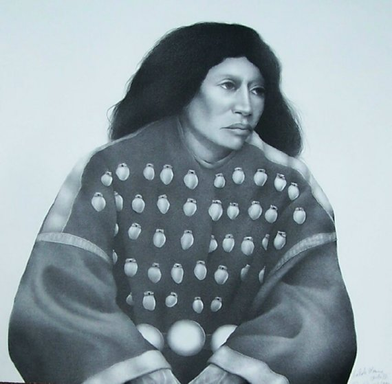 Lakota Woman II (Black And White) 1992