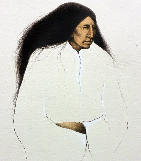 A Cheyenne Woman Waiting 1986 Limited Edition Print - Frank Howell