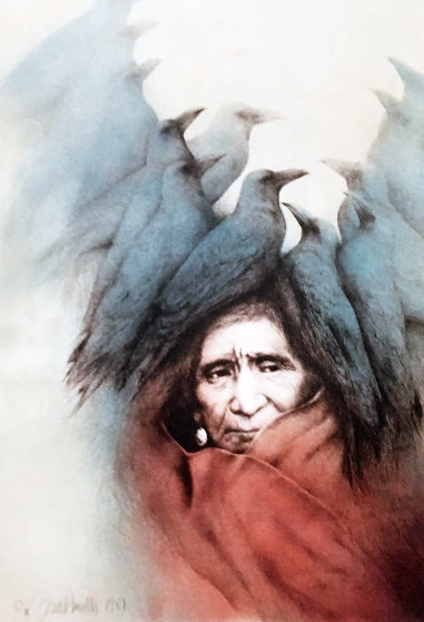 Crow Dreamer Lakota Vision 1981 Limited Edition Print by Frank Howell