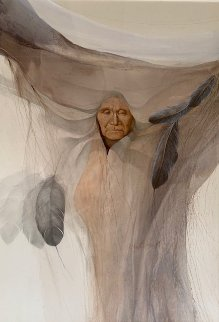Prairie Robe 1979  42x32 Original Painting - Frank Howell