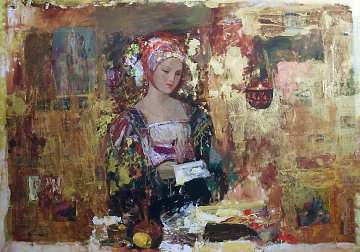 A Love Letter 52x70 Original Painting - Hua Chen