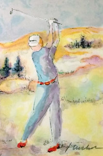 Untitled Golf Limited Edition Print - Urbain Huchet