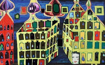 It Hurts to Wait With Love If Love is Somewhere Else Or Mit Der Liebe   Warten Tut Weh 1 Limited Edition Print - Friedensreich S. Hundertwasser