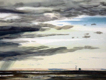 A Shower on the Prairie 1980 Limited Edition Print - Peter Hurd
