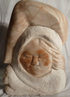 Hawk Visions Alabaster Sculpture Sculpture - Doug (Sculptor) Hyde