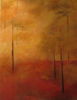 Sunlight Forest 48x24 Original Painting - Nancy Iannitelli