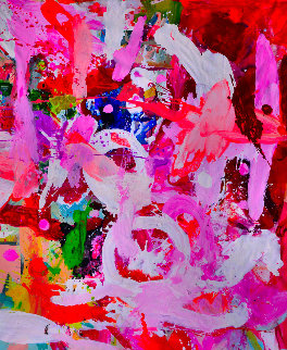 True Love 2017 74x62 Original Painting - Costel Iarca