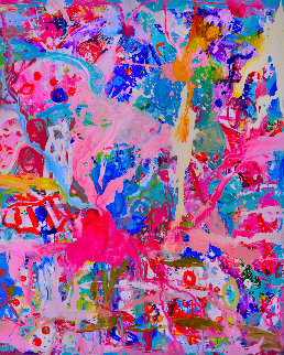 Values And Changes Number I 2017 74x62 Original Painting - Costel Iarca