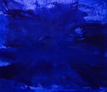 Blue Ocean 2017  62x74 Original Painting - Costel Iarca