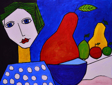 Woman And Still  Life 2013  50x62  - Costel Iarca