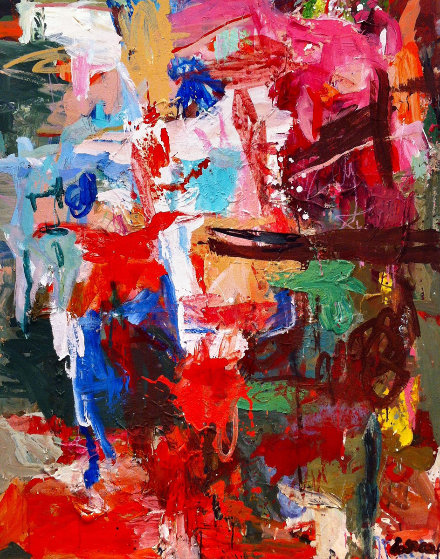 Time And Stage  2017 62x50 Original Painting by Costel Iarca