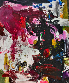Line of Argument 2017 74x62 Original Painting - Costel Iarca