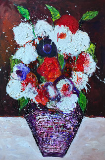 Still Life Number 2 2018 38x26 Original Painting - Costel Iarca