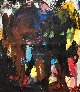 Call In 2019 72x62 Original Painting - Costel Iarca