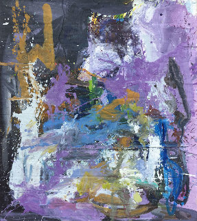 Life in Purple 2019 67x57 Original Painting - Costel Iarca