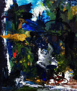 Poem Expressed 2017 74x62 Original Painting - Costel Iarca