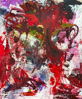 Essence of Fragility 2017 74x62 Original Painting - Costel Iarca