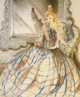 Girl in Crinoline 1937 Limited Edition Print - Louis Icart