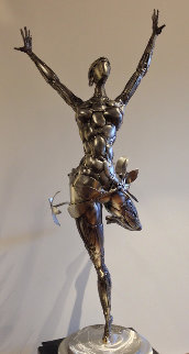 Ballerina No. 2 Stainless Original Steel Sculpture 44 in Sculpture - Boban Ilic