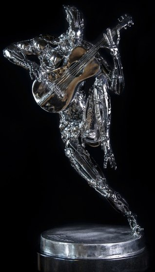 Guitarist Stainless Sculpture 2014 25 in