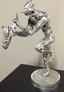 Saxophonist Stainless Steel Original Sculpture 2015 23 in  Sculpture - Boban Ilic