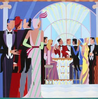 At the Bar 1987 Limited Edition Print - Giancarlo Impiglia