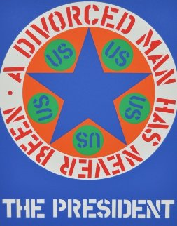 A Divorced Man Has Never Been the President 1997 Limited Edition Print - Robert Indiana