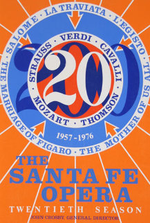 Santa Fe Opera 1976 Limited Edition Print - Robert Indiana