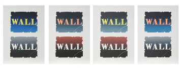 Wall: Two Stone Suite of 4 BAT 1990  Limited Edition Print - Robert Indiana