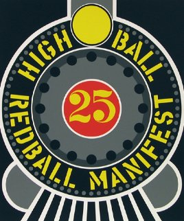 High Ball Red Ball Manifest 25 1996 Limited Edition Print - Robert Indiana