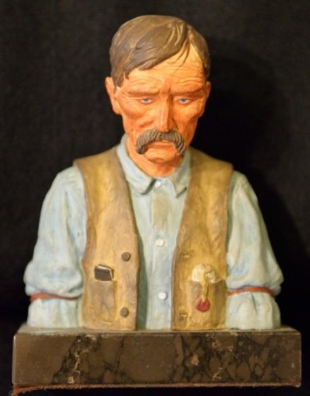 Old Timer Bronze Sculpture 1970