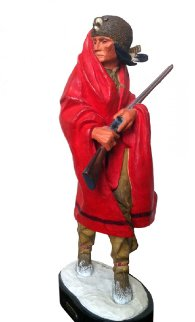 Iroquois Guide II Polychrome Sculpture 1980 Sculpture - Harry Andrew Jackson
