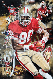 Jerry Rice Golden Rice 2016 25x35 Original Painting - Joshua Jacobs