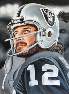 Kenny Stabler The Snake 2016 24x29 Original Painting - Joshua Jacobs