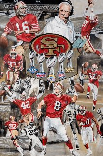 49ers Champions Tribute 2016 26x39 Original Painting - Joshua Jacobs