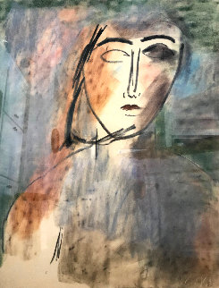 Untitled Portrait 1983 42x46 Original Painting -  Jamali