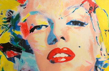 Marilyn Monroe  2007 28x40 Original Painting - James F. Gill