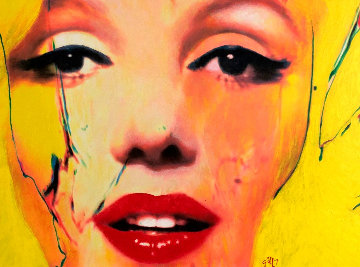 Untitled Painting - Marilyn Monroe 2007 29x37 Original Painting - James F. Gill