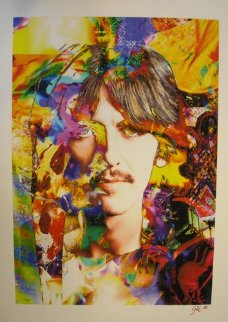 George Harrison Yellow Unique Limited Edition Print - James F. Gill