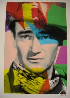 John Wayne Blue Unique  Limited Edition Print - James F. Gill
