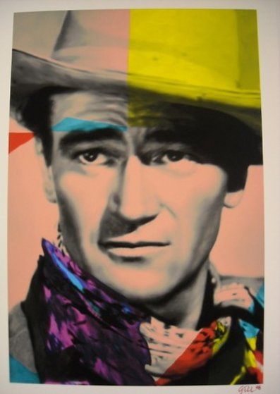 John Wayne Yellow Unique Limited Edition Print - James F. Gill