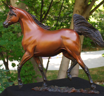Supreme Stallion Bronze Sculpture 2012 18 in Sculpture - J. Anne Butler