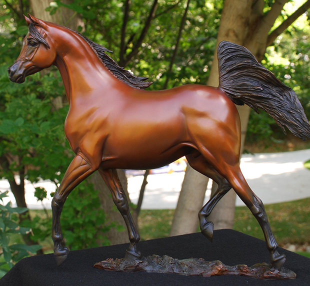Supreme Stallion Bronze Sculpture 2012 18 in