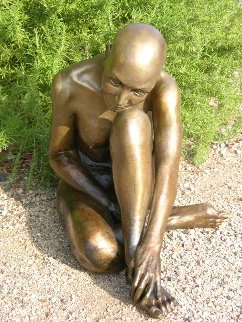 Purity Nude Female Bronze 2008 22 in  Sculpture - J. Anne Butler